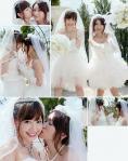 AKB48 大島優子 小嶋陽菜 セクシー ウエディングドレス おっぱいの谷間 キス顔 笑顔 カメラ目線 高画質エロかわいい画像2