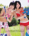 SKE48 向田茉夏 矢方美紀 セクシー ビキニ水着 おっぱいの谷間 水鉄砲 ホース 笑顔 カメラ目線 おへそ 太もも ぶっかけ用オナドル 高画質エロかわいい画像