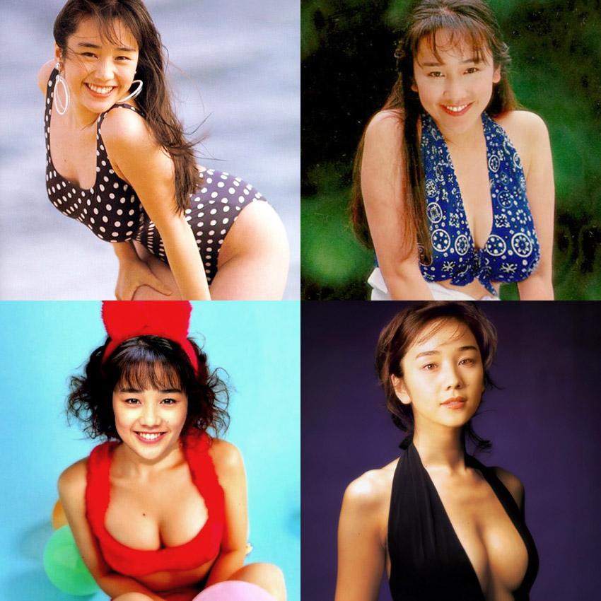 西田ひかる セクシー 巨乳 おっぱいの谷間 水着 ムチムチ 80年代 笑顔 エロかわいい画像23