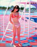 小倉優子ゆうこりん セクシー ビキニ水着 おへそ 太もも カメラ目線 高画質エロかわいい画像6