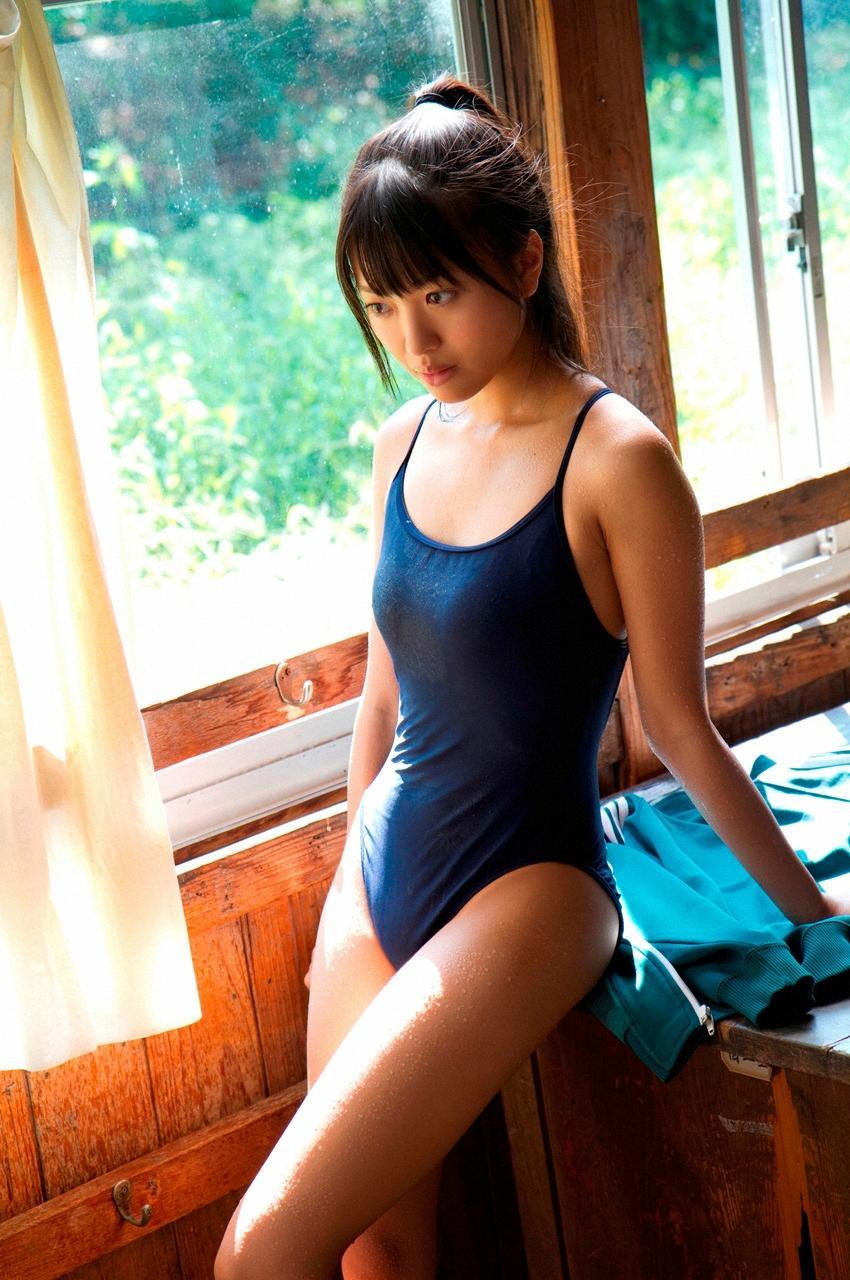 AKB48 SKE48 北原里英 セクシー スクール水着 太もも 汗 エロかわいい画像11