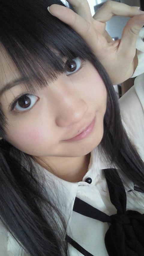 SKE48 木﨑ゆりあ ピース 顔アップ 顔射用 エロかわいい 画像