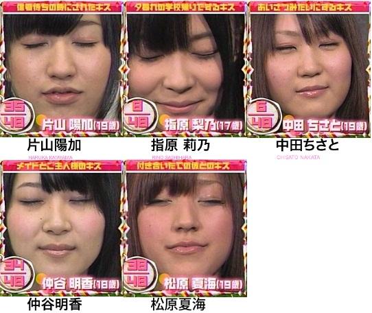 AKB48 片山陽加 指原莉乃 中田ちさと 仲谷明香 松原夏海 セクシー 唇 キス顔 顔アップ 顔射用 エロ画像
