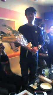K田さん花束贈呈
