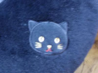 猫クッション後ろマーク