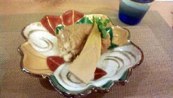 ナメタカレイと筍の煮物