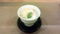 蟹と松茸と百合根の茶碗蒸し