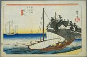広重の「桑名宿」
