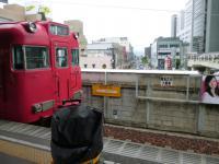 豊田市駅から来た道を振り返る