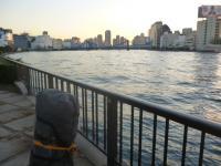 隅田川 小名木川 萬年橋 佃島を望む