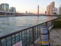 隅田川 小名木川 萬年橋 柳橋方面を望む