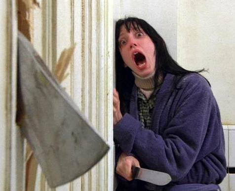 浴室の扉を壊すジャック