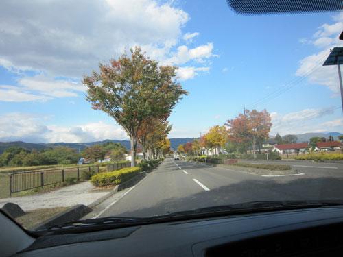福島西ICで降り国道
