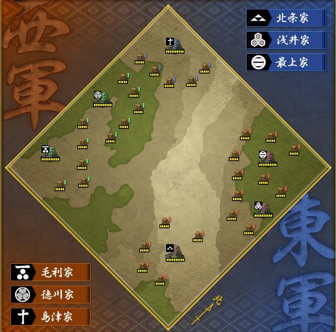東西戦地図