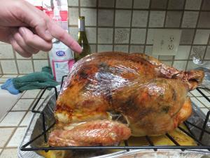 Thanksgiving dayに七面鳥を食べました。
