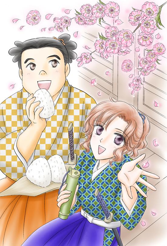 桃のお花見♪