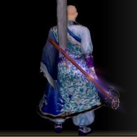 羅漢の長絹改装具 青後