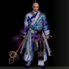羅漢の長絹改装具 青前