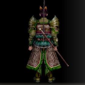 戦士の具足改装具 緑 後