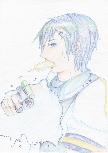 暑中見舞い絵:KAITO