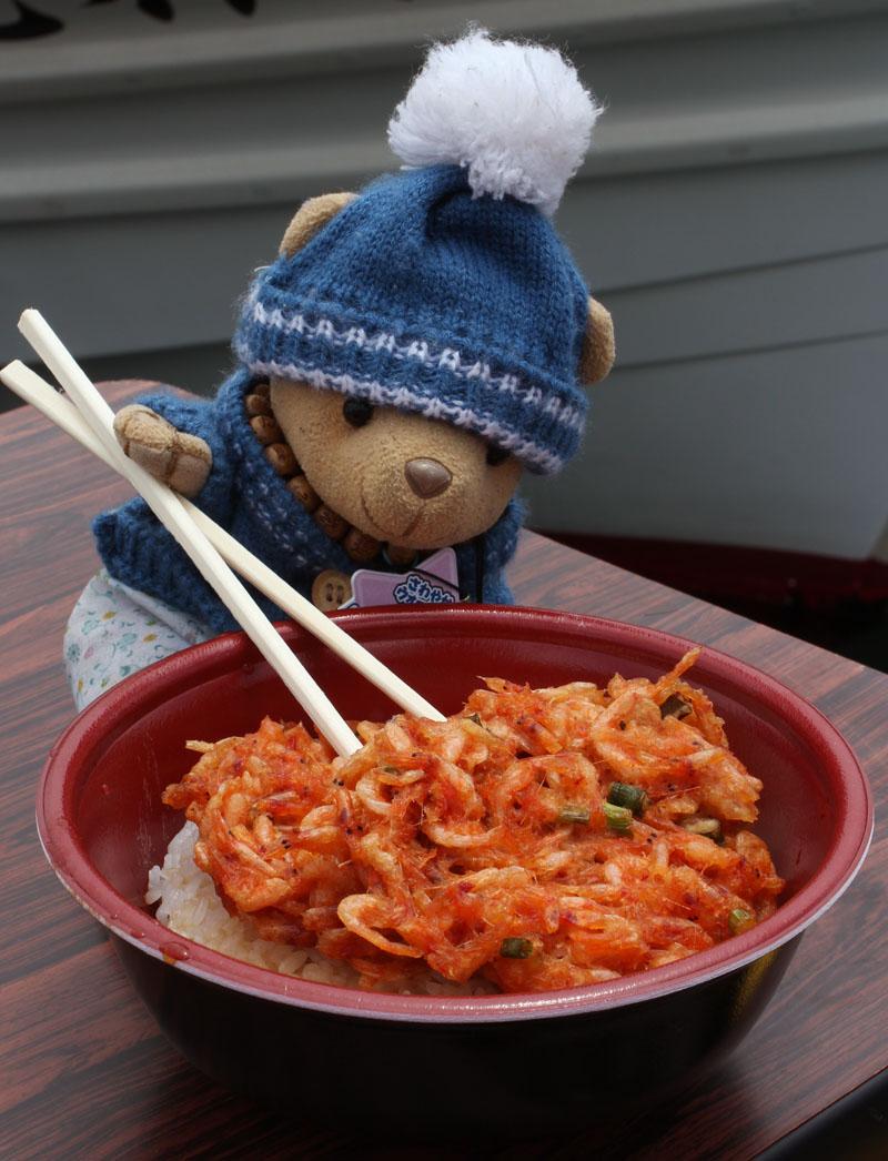 かきあげ丼を食べる 120610