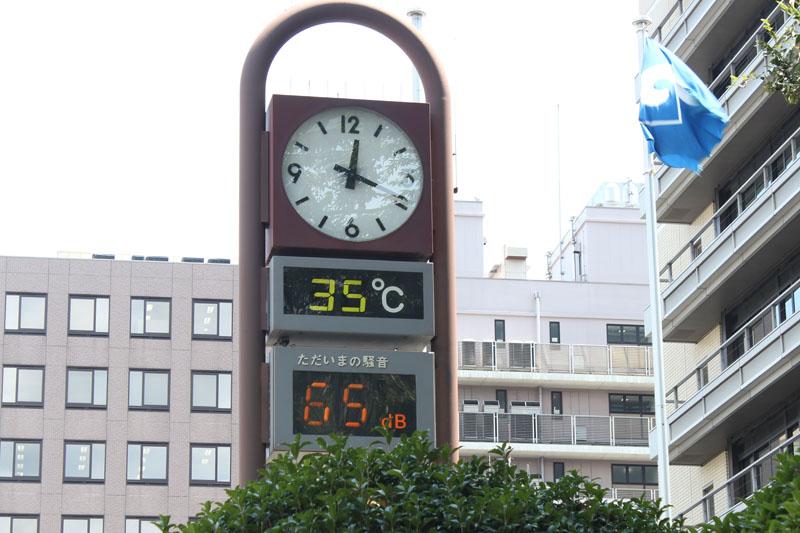 静岡市役所前 120803昼 35℃