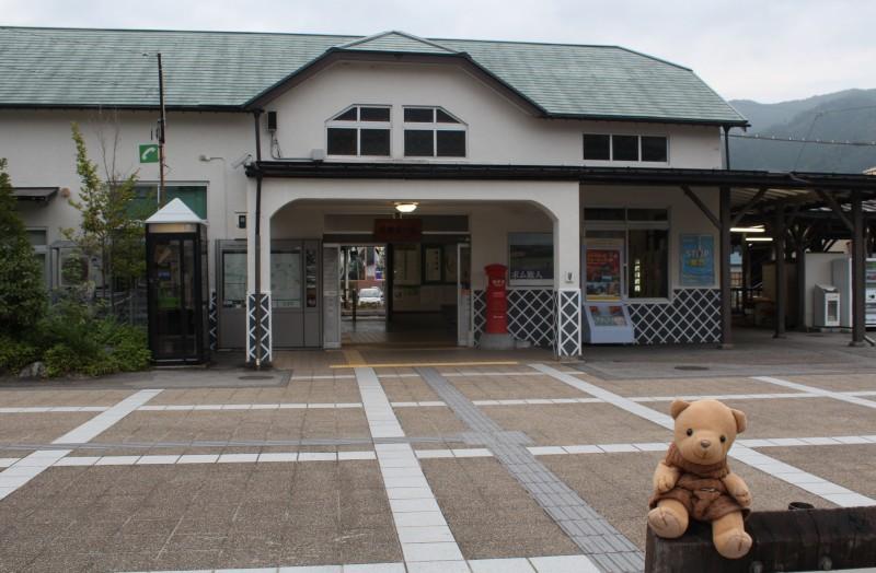 飛騨古川駅前で