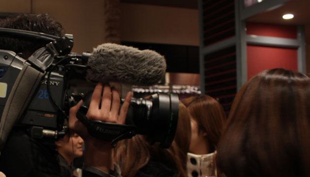 テレビカメラが来ていた