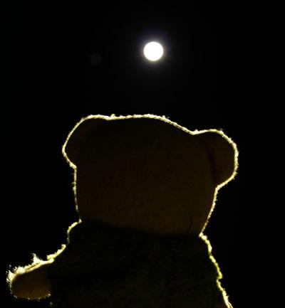 半影月食を見上げる 121128