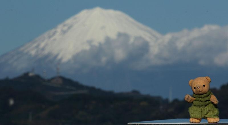 午後の富士山と 2012年11月27日