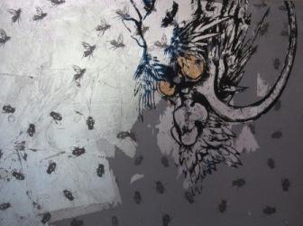 信楽寺障壁画裏面部分