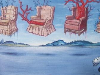 ダリ風景の中の肘掛椅子
