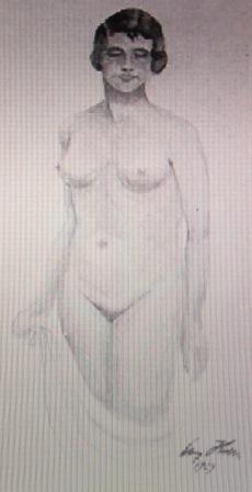 ヒトラー作裸婦