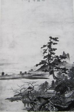 湖亭春望図