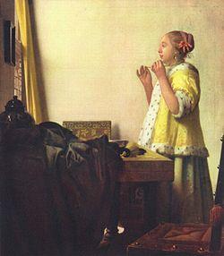 フェルメール真珠の首飾りの女