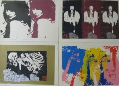 学生達のシルク版画