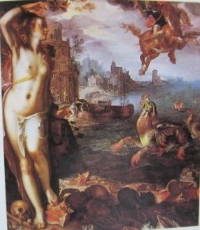 アンドロメダ姫を救うペルセウス