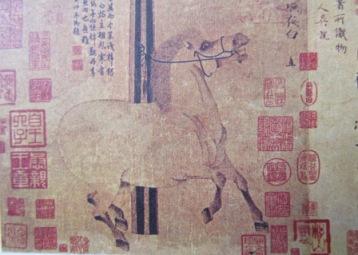 8世紀の馬の唐画