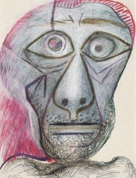 ピカソ自画像1972
