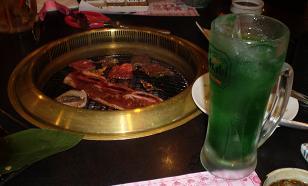 焼肉とリンゴサワー