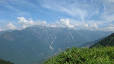 霞沢岳方面