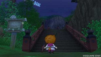 長~い階段です