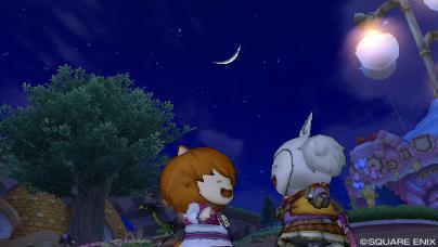 月夜の出会い