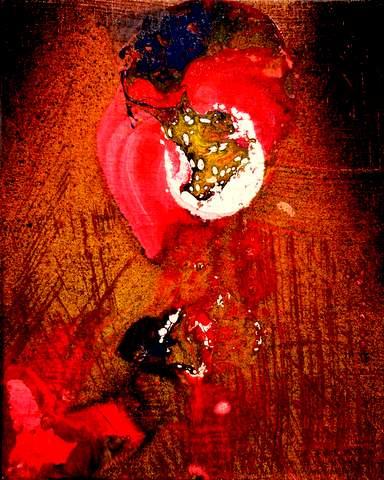 赤い花480