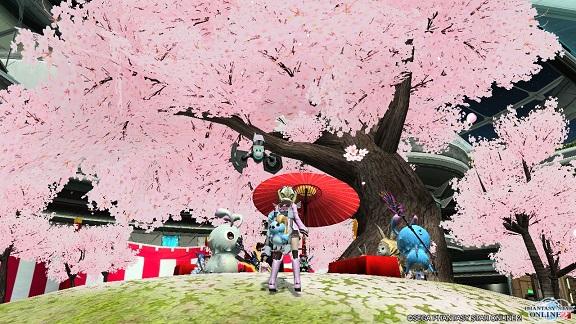 桜ロビー1