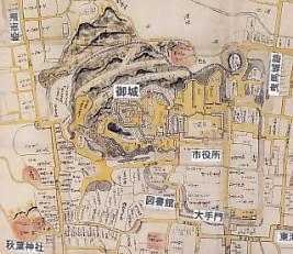 濱松古地図・御城周辺