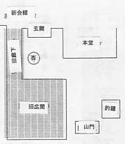 西福寺・旧建物配置