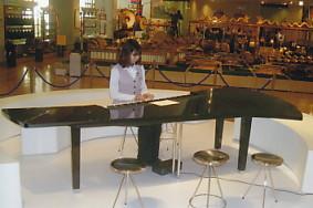 楽器博・電子ピアノを弾いている風景