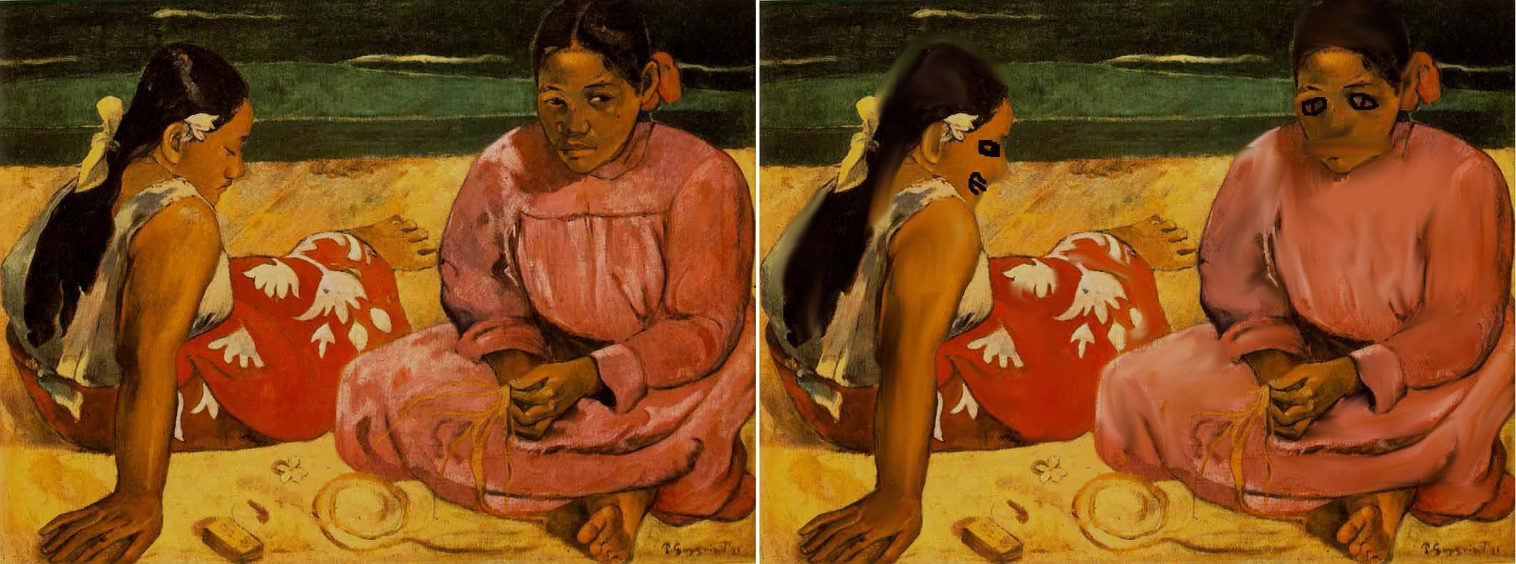 タヒチの女たち ゴーギャン