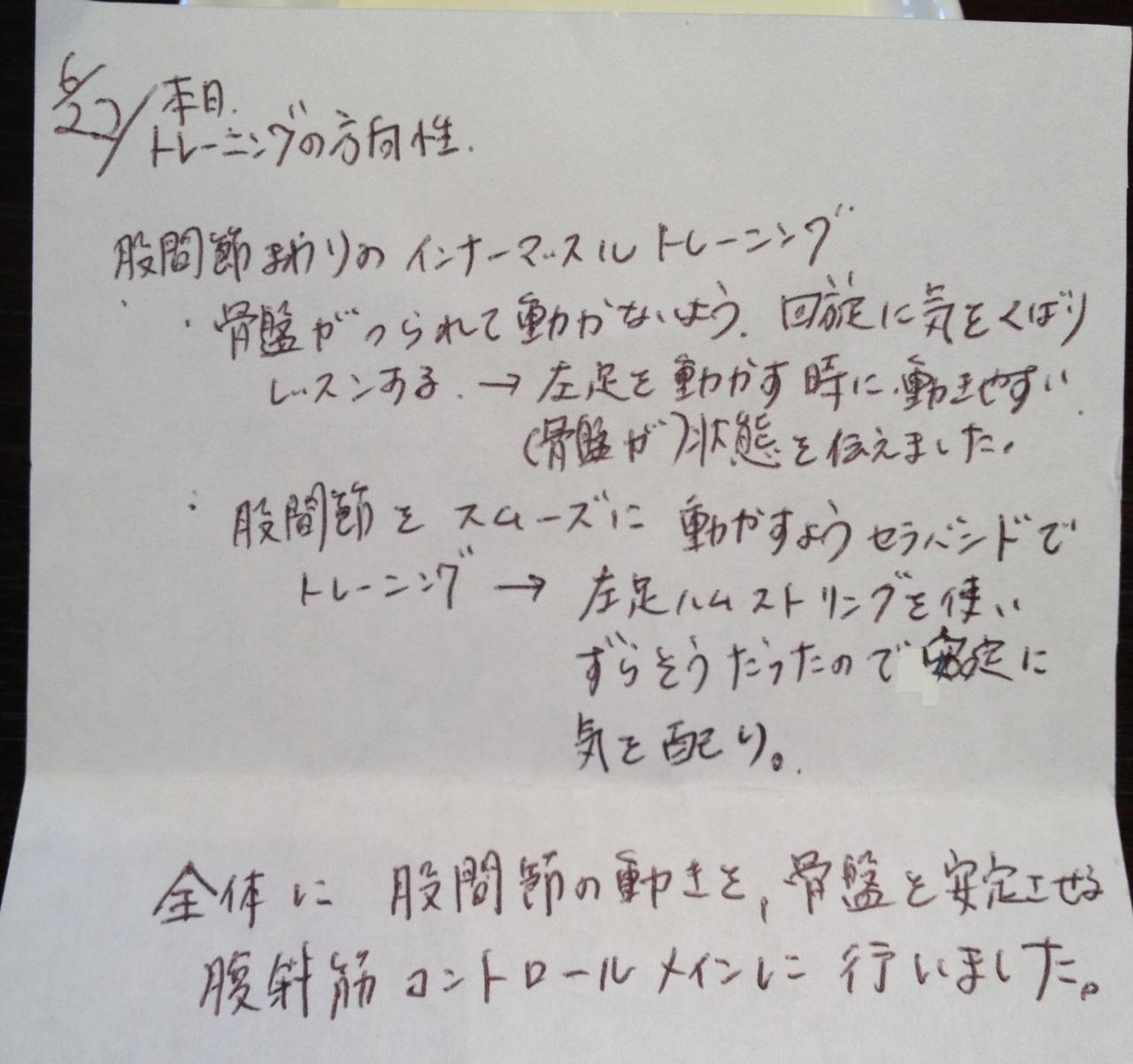 ピラティス手紙